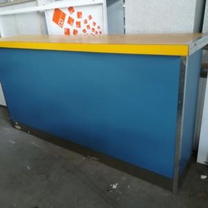 BANCONE CASSA bancone cassa celeste e giallo. 200 x 110 x 50 cm