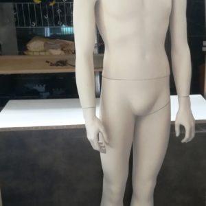 MANICHINO UOMO IN PLASTICA CON PIEDISTALLO COLORE BIANCO
