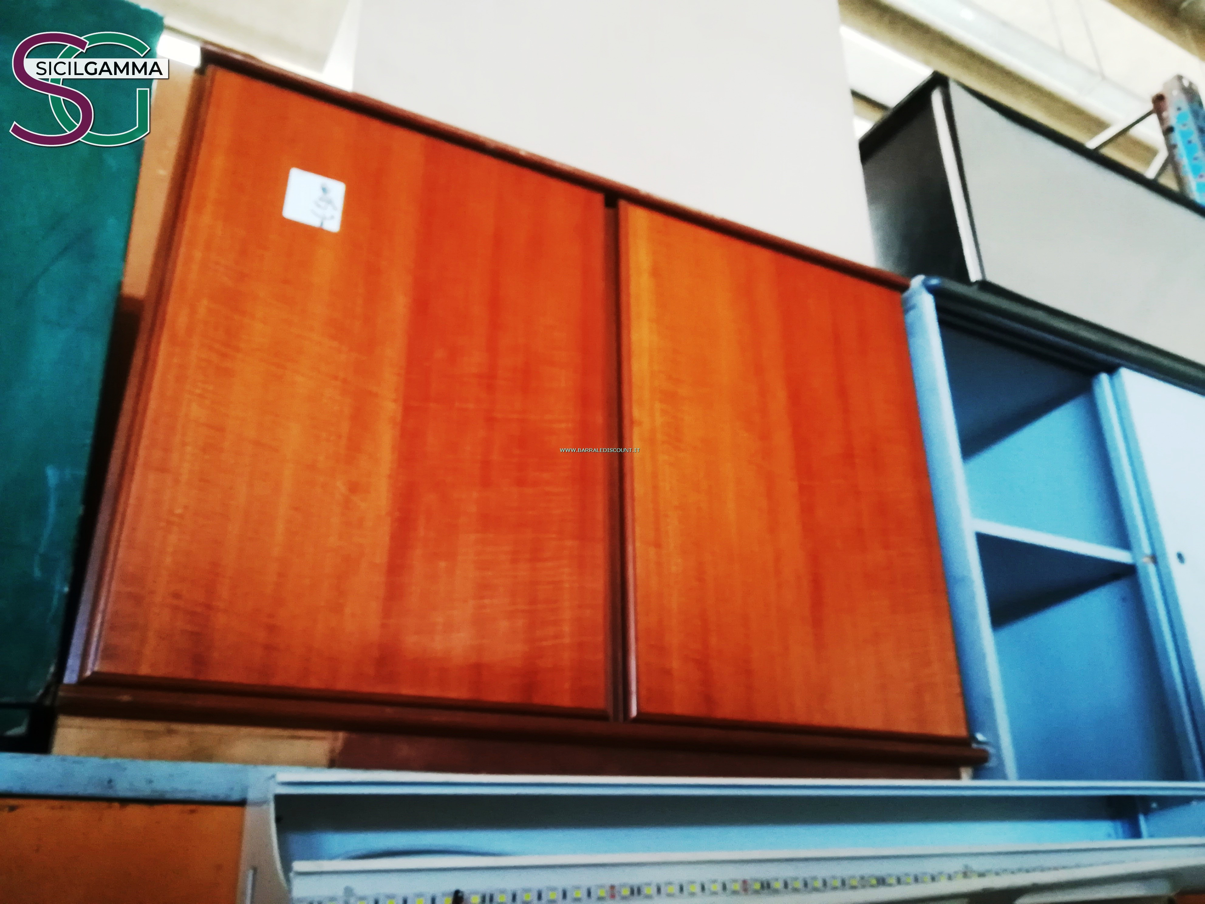 Armadio ufficio legno 7552 barrale discount for Armadio basso ufficio