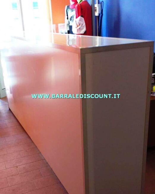 BANCO FRONT OFFICE 8066 STRUTTURA IN ALLUMINIO E FRONTALE E DESK BIANCO MISURA 120 X 50 X 300