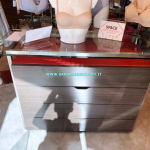 Tavolo promo espositivo alto 90 x 140 cx 50 cm e sotto cassettiera € 250,00