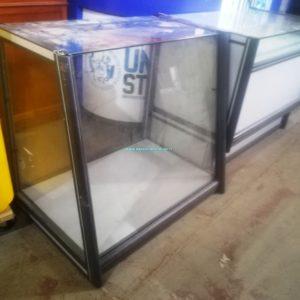 BANCO IN ALLUMINIO GRIGIO modulo tutto vetrina misura 100 x 60 x 90 cm € 120,00